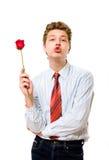 το φιλί αυξήθηκε στοκ εικόνες