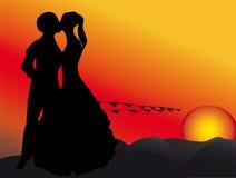 Ηλιοβασίλεμα και αγάπη Στοκ φωτογραφία με δικαίωμα ελεύθερης χρήσης