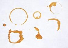το φλυτζάνι καφέ τυπώνει τα δαχτυλίδια στοκ εικόνες με δικαίωμα ελεύθερης χρήσης