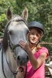 το φοβισμένο πορτρέτο κοριτσιών προσώπου εξέπληξε τις νεολαίες Στοκ Εικόνες
