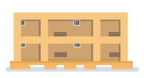 Το φορτίο είναι έτοιμο να στείλει Εικονίδια φορτίου αποθηκών εμπορευμάτων Στοκ Φωτογραφία