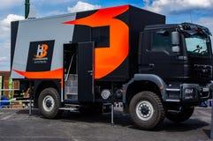Το φορτηγό ελέγχου αποστολών, στον αέρα Farnborough παρουσιάζει 2018 στοκ φωτογραφία με δικαίωμα ελεύθερης χρήσης