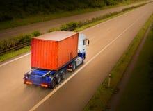 Το φορτηγό εμπορευματοκιβωτίων Στοκ Εικόνες