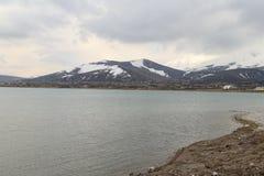 Το φορτηγό λιμνών και τοποθετεί Ararat Στοκ Φωτογραφίες