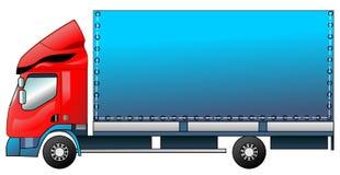 Το φορτηγό σε ένα διάνυσμα Στοκ Εικόνα