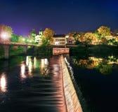 Το φράγμα στον ποταμό στο Pskov Στοκ Φωτογραφίες