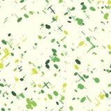 Το φρέσκο άνευ ραφής πράσινο σχέδιο με χέρι-σύρει τα στοιχεία Περικάλυμμα εγγράφου Στοκ εικόνες με δικαίωμα ελεύθερης χρήσης