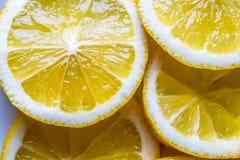 Το φρέσκο λεμόνι τεμαχίζει το υπόβαθρο στοκ εικόνες με δικαίωμα ελεύθερης χρήσης