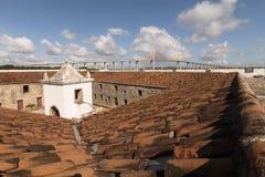 Το φρούριο των τριών σοφών ανθρώπων και της γέφυρας Newton Navarro Στοκ Εικόνα