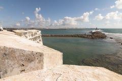 Το φρούριο των τριών σοφών ανθρώπων και της γέφυρας Newton Navarro Στοκ φωτογραφία με δικαίωμα ελεύθερης χρήσης
