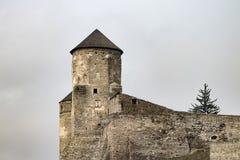 Το φρούριο Podilskyi Kamianets ενσωμάτωσε το 14ο αιώνα Άποψη Στοκ εικόνες με δικαίωμα ελεύθερης χρήσης