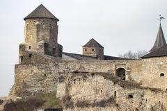 Το φρούριο Podilskyi Kamianets ενσωμάτωσε το 14ο αιώνα Άποψη Στοκ φωτογραφία με δικαίωμα ελεύθερης χρήσης