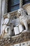 Το φτερωτό λιοντάρι στη Βενετία Στοκ Εικόνες