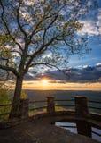 Το φυσικό ηλιοβασίλεμα, της όξινης απορροής βουνά, βασίλειο έρχεται κρατικό πάρκο, Κεντάκυ στοκ εικόνες με δικαίωμα ελεύθερης χρήσης