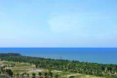 Το φυσικό τοπίο του hainan νησιού Κίνα Στοκ Φωτογραφία