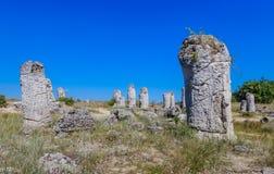 Το φυσικό φαινόμενο Pobiti Kamani, γνωστό ως πέτρινο δάσος Στοκ εικόνα με δικαίωμα ελεύθερης χρήσης