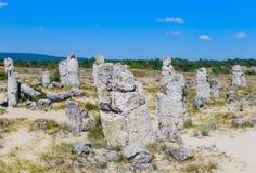 Το φυσικό φαινόμενο Pobiti Kamani, γνωστό ως πέτρινο δάσος Στοκ Φωτογραφίες