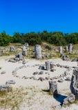 Το φυσικό φαινόμενο Pobiti Kamani, γνωστό ως πέτρινο δάσος Στοκ εικόνες με δικαίωμα ελεύθερης χρήσης