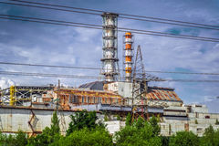 Το φυτό πυρηνικής ενέργειας του Τσέρνομπιλ Στοκ εικόνα με δικαίωμα ελεύθερης χρήσης