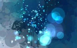 Το φως λάμπει μπλε υπόβαθρο κτυπημάτων βουρτσών Στοκ Εικόνες