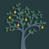 το φως ενεργειακής απεικόνισης βολβών σώζει το διάνυσμα δέντρων Στοκ εικόνα με δικαίωμα ελεύθερης χρήσης