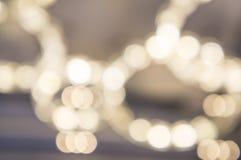 το φως θολώνει blurly από την κυκλική έννοια ακτίνων εστίασης Στοκ Φωτογραφία