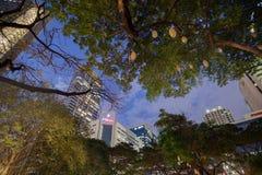 Το φως και ο ήχος παρουσιάζουν Ayala στο τρίγωνο Στοκ φωτογραφίες με δικαίωμα ελεύθερης χρήσης