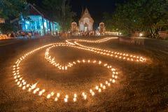Το φως κεριών τακτοποιήθηκε σε έναν αριθμό 9 Σημαίνει διάφορα Στοκ φωτογραφία με δικαίωμα ελεύθερης χρήσης