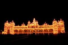 Το φως παλατιών του Mysore παρουσιάζει Στοκ εικόνες με δικαίωμα ελεύθερης χρήσης