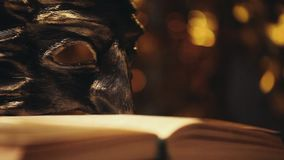 Το φως στούντιο μασκών Carnaval χρωματίζει bokeh απόθεμα βίντεο