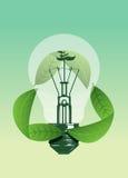 Το φως σώζει την έννοια φυτών Στοκ Εικόνες