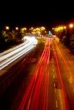 Το φως των αυτοκινήτων στο δρόμο Στοκ Φωτογραφίες