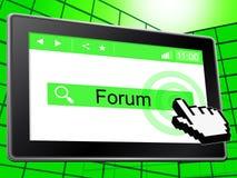 Το φόρουμ παρουσιάζει on-line το World Wide Web και συνομιλία διανυσματική απεικόνιση