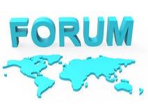 Το φόρουμ Www σημαίνει τα κοινωνικά μέσα και παγκοσμίως ελεύθερη απεικόνιση δικαιώματος