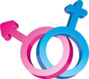 το φύλο υπογράφει δύο Στοκ εικόνες με δικαίωμα ελεύθερης χρήσης