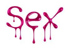 Το φύλο λέξης που γράφεται από τη στιλβωτική ουσία καρφιών Στοκ εικόνα με δικαίωμα ελεύθερης χρήσης