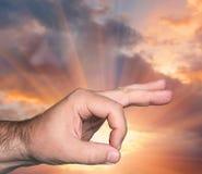το χέρι απομόνωσε την εντάξει λευκή γυναίκα σημαδιών Στοκ Εικόνα
