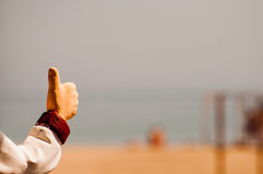 το χέρι απομόνωσε την εντάξει λευκή γυναίκα σημαδιών Στοκ φωτογραφία με δικαίωμα ελεύθερης χρήσης
