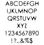 Το χέρι γρατσουνιά επεξεργάστηκε του αναδρομικού αλφάβητου πηγών «γοτθική Στοκ Φωτογραφίες