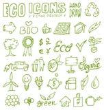 Το χέρι εικονιδίων Eco σύρει 1 Στοκ φωτογραφία με δικαίωμα ελεύθερης χρήσης