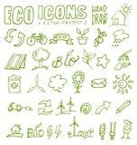 Το χέρι εικονιδίων Eco σύρει 2 Στοκ φωτογραφία με δικαίωμα ελεύθερης χρήσης