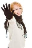 το χέρι εμφανίζει γυναίκα &s Στοκ εικόνες με δικαίωμα ελεύθερης χρήσης