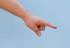 το χέρι εμφανίζει Στοκ φωτογραφία με δικαίωμα ελεύθερης χρήσης