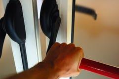 το χέρι εξόδων κινδύνου αν&omic Στοκ φωτογραφία με δικαίωμα ελεύθερης χρήσης