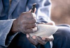 το χέρι επανδρώνει την εργ&alp στοκ φωτογραφία με δικαίωμα ελεύθερης χρήσης