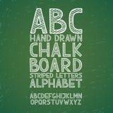 Το χέρι κιμωλίας πινάκων κιμωλίας πινάκων σύρει doodle abc, Στοκ φωτογραφίες με δικαίωμα ελεύθερης χρήσης