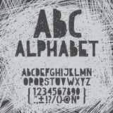 Το χέρι κιμωλίας σύρει doodle abc, αλφάβητο grunge Στοκ Εικόνα