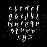 Το χέρι μανδρών βουρτσών έγραψε το αγγλικό αλφάβητο Στοκ Φωτογραφίες