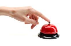 Το χέρι πιέζει την κλήση Στοκ Φωτογραφίες