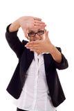 το χέρι πλαισίων φαίνεται γ Στοκ εικόνα με δικαίωμα ελεύθερης χρήσης
